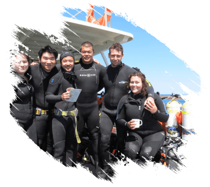 divers with Octopus Garden Dive Charters
